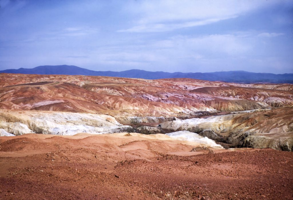"The ""Red Hills"" of the Copper Basin prior to 1980."