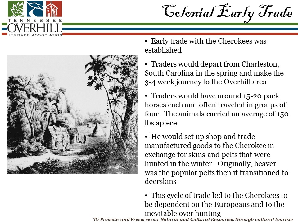 Colonial Early Trade on the Unicoi Turnpike