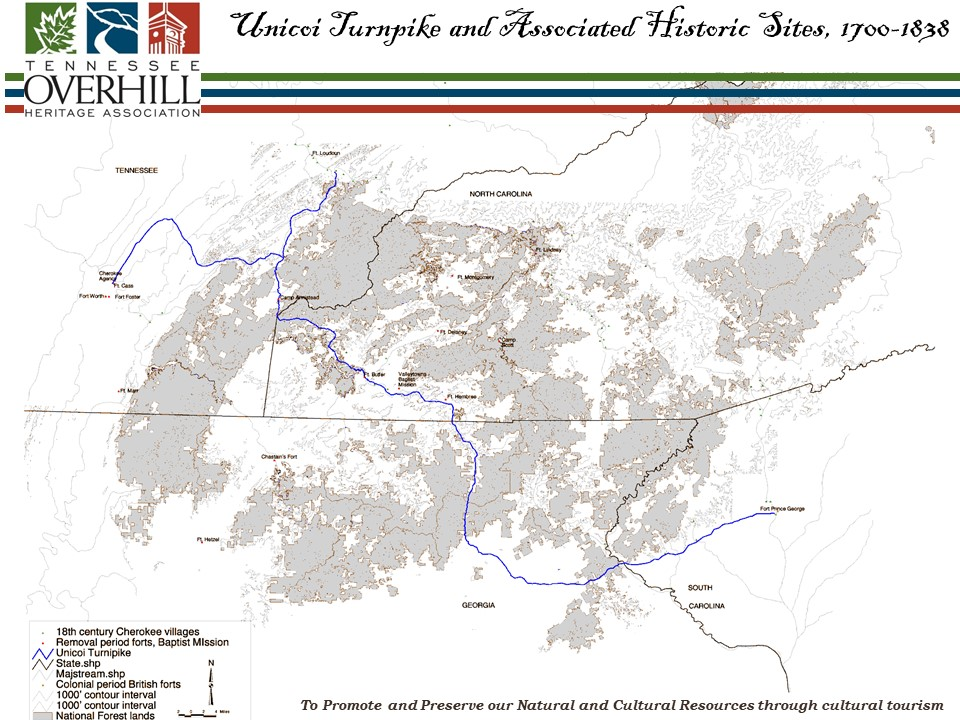 Unicoi Turnpike Map Showing Trade